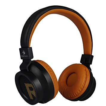 Amazon In Buy Zebronics Zeb Bang Bluetooth Headphone With Voice Assistant Orange Online At Low Prices In India Zebronics Reviews Ratings