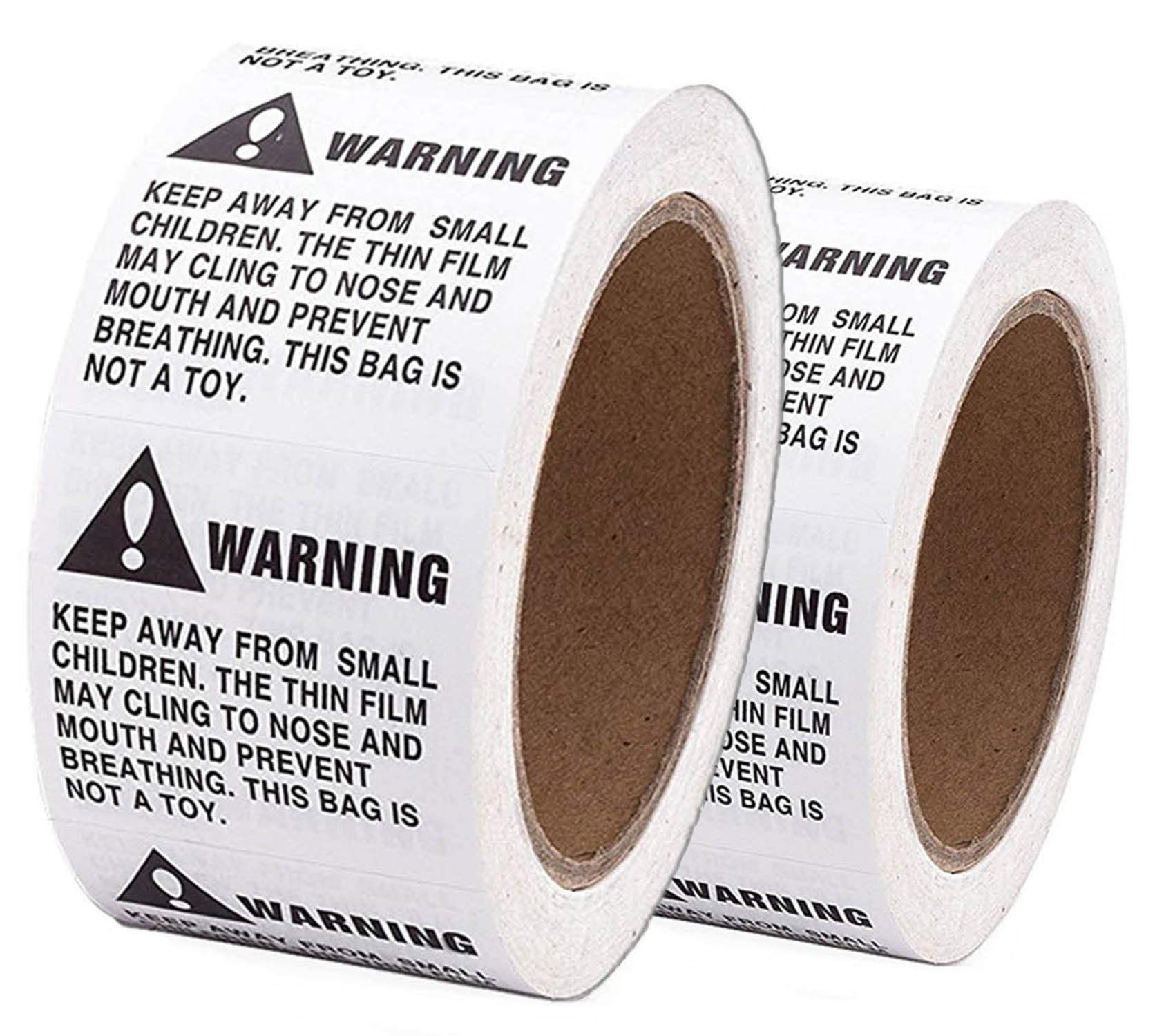 Shop4Mailers Warning Suffocation Labels 2'' x 2'' Rolls of 500 (12 Rolls)