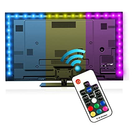 Amazoncom Bias Lighting For Hdtv 787in 2m With Remote Control