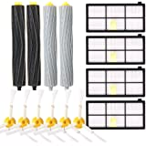 efluky Replacement Accessories Kit for Roomba 800 Series 800 805 850 860 870 880 980- Includes 4 Pack Filter, 6 Pack Side Brush, 2 Pack Bristle Brush and Flexible Beater Brush, 1 Pack Cleaning Tool