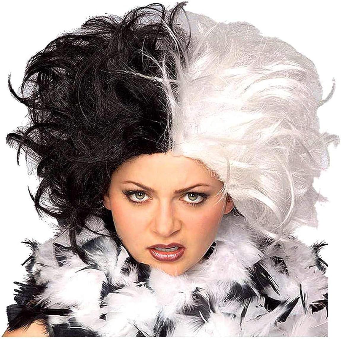 Evil Madame Wig Cruella De Vil 101 Dalmations Ladies Wigs Costume Accessories