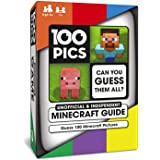 100 PICS Unofficial and Independent Minecraft Guide - Travel Card Game   Pocket Puzzles for Kids and Adults