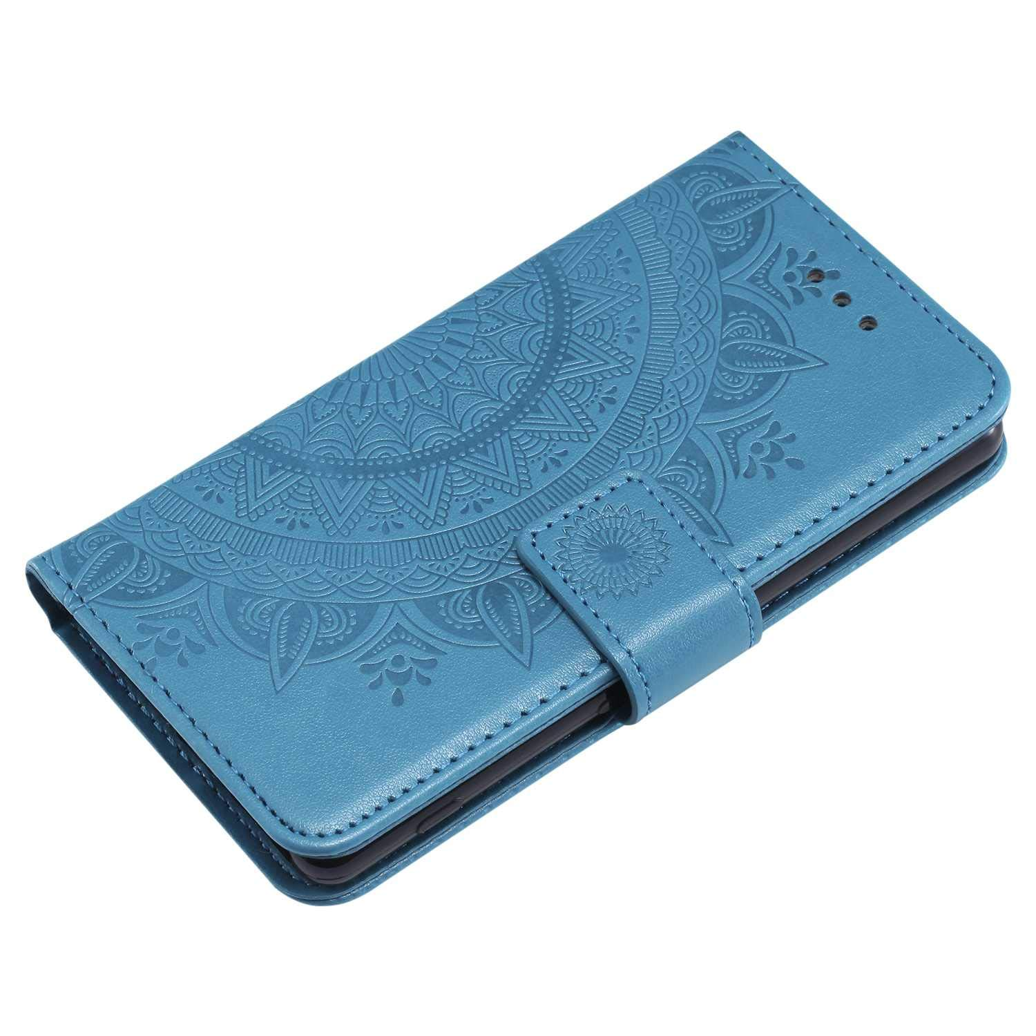 Sony Xperia XA1 Case Premium Wallet Case with Blue The Grafu Leather Case Kickstand Function Card Slots Flip Notebook Cover for Sony Xperia XA1