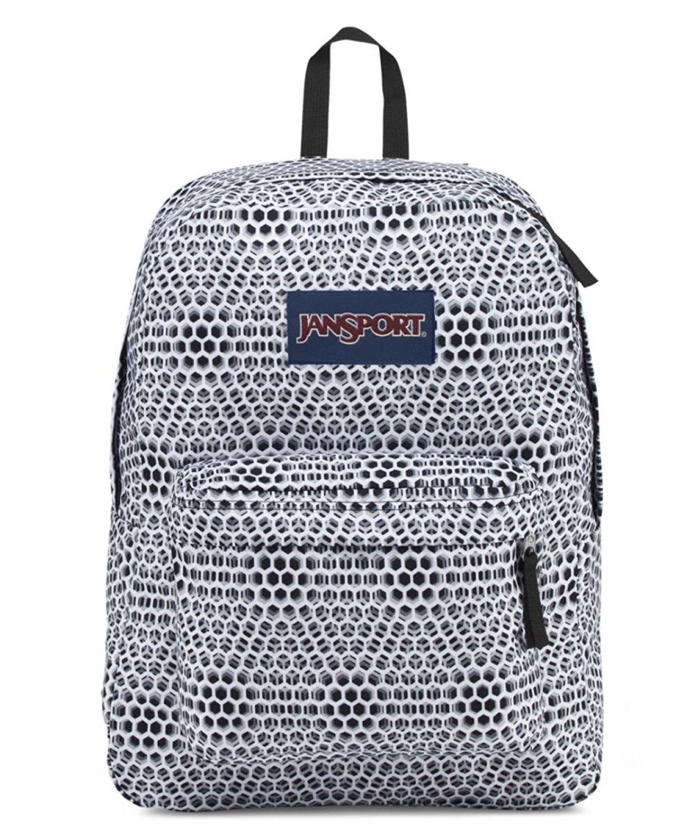 JanSport Superbreak Backpack (One Size, White Urban Optical) by JanSport (Image #1)