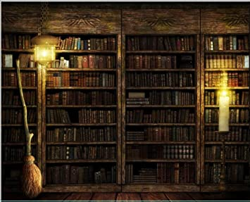 10x8 ft Vintage Antique Bookshelf Backdrop Old Books on Wooden Bookcase  Light Retro Photography Backgrounds for