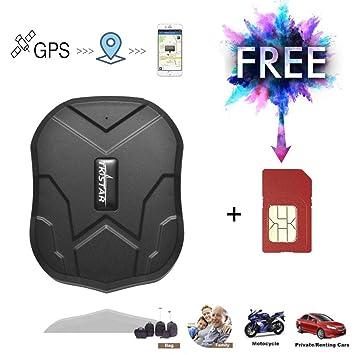 GPS Tracker, 5000 mAh, Tarjeta SIM Gratuita, antipérdida ...