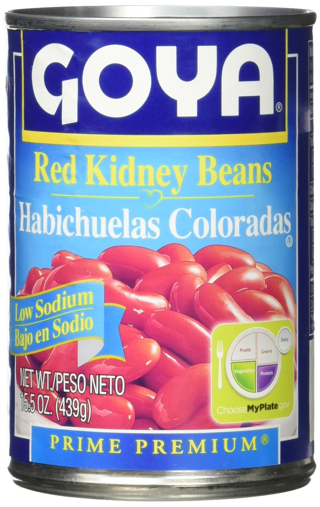 Goya Red Kidney Beans, Low Sodium, 15.5 Ounce
