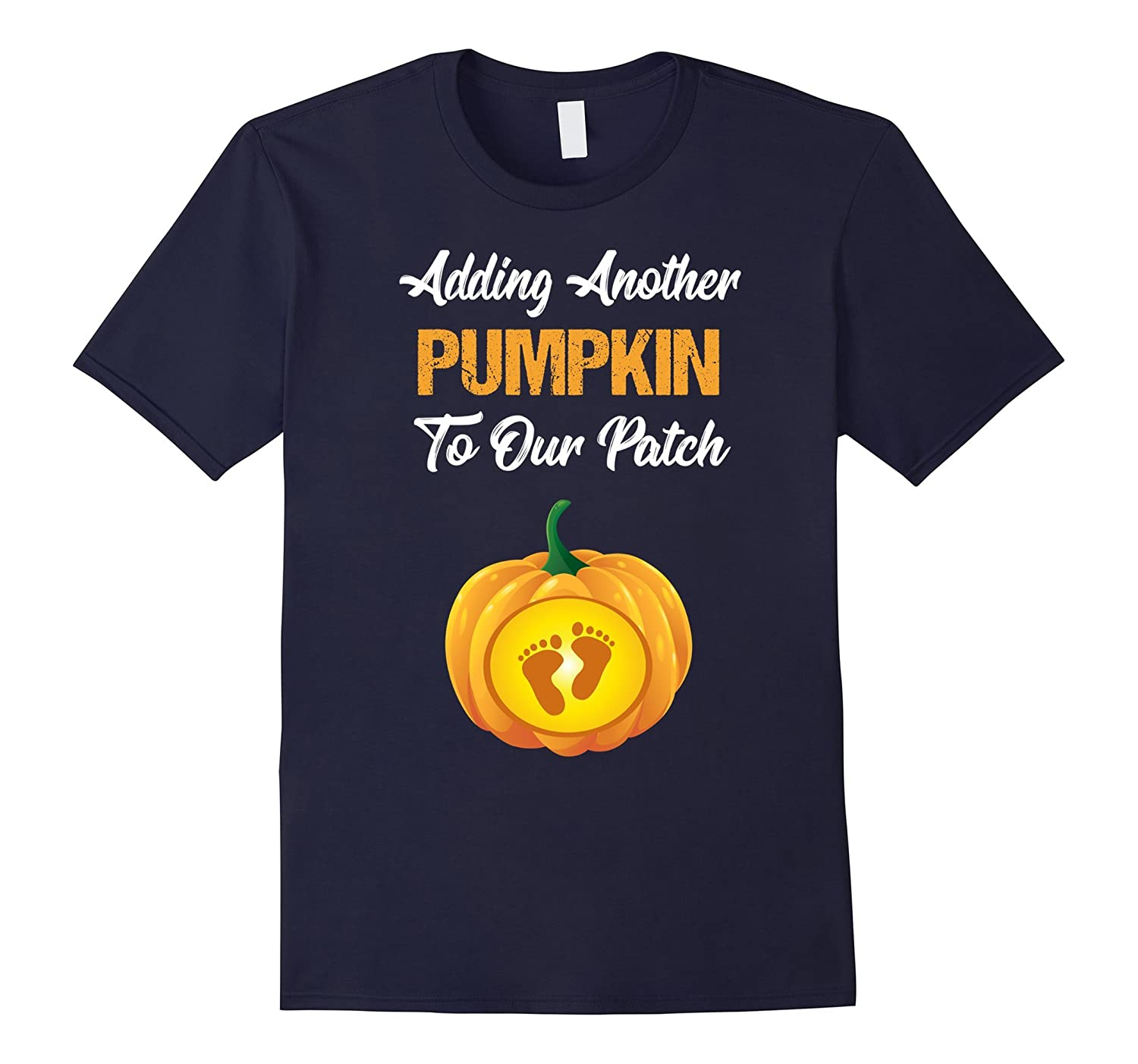 Adding A Pumpkin To Our Patch TShirt Maternity Halloween-T-Shirt