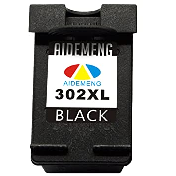 AideMeng 302XL Remanufacturado Cartucho de Tinta Reemplazo para HP 302XL (1 Negro) Compatible con DeskJet 1110 1115 2130 2132 3630 3632 3633 OfficeJet ...