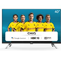 """CHiQ Televisor Smart TV LED 40"""", Resolución FHD, HDR 10/HLG, Android 9.0, WiFi, Bluetooth, Netflix, Prime Video, Youtube…"""