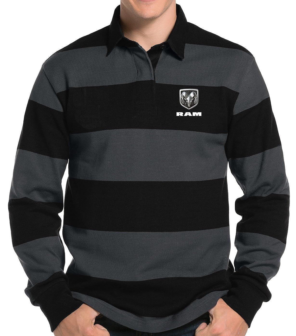 Buy Cool Shirts Mens Dodge Ram Logo Rugby Polo Shirt At Amazon Mens