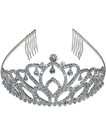 amazon co uk makeup hair dressing heads toys games Fashion Beauty princess crown tiara diamante pageant tiaras headband headpiece hair b
