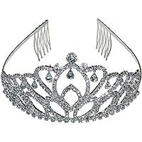 Princesa corona Tiara diamante Pageant Tiaras diadema cabeza
