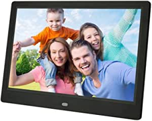 Digital Photo Frame 10 Inch IPS Screen Digital Photo Frames with USB SD Card Slots and Remote Control Digital Picture Frame HD 16:9 Widescreen,Black