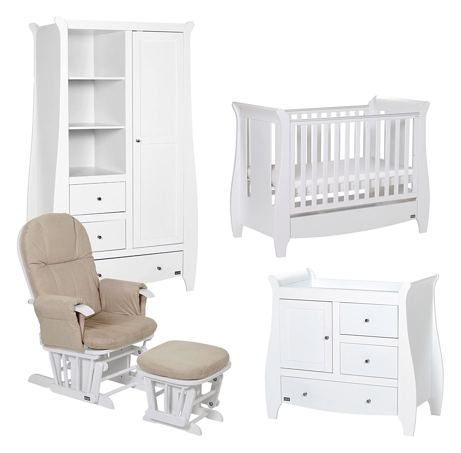 Tutti Bambini Katie Room Set with White Finish, 5-Piece 139RS5/11