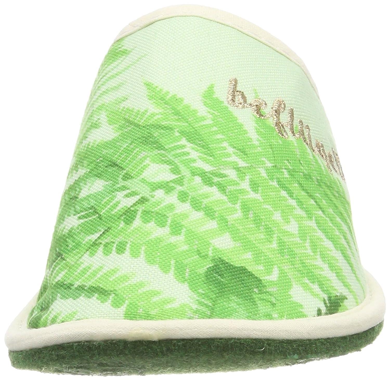 Adelheid Beflügelt Schmetterling Stoffpantoffel, Zapatillas de Estar por Casa para Mujer, Verde (Knospengrün 407), 36/37 EU