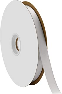 "product image for Offray Berwick 5/8"" Single Face Satin Ribbon, Silver Gray, 100 Yds"