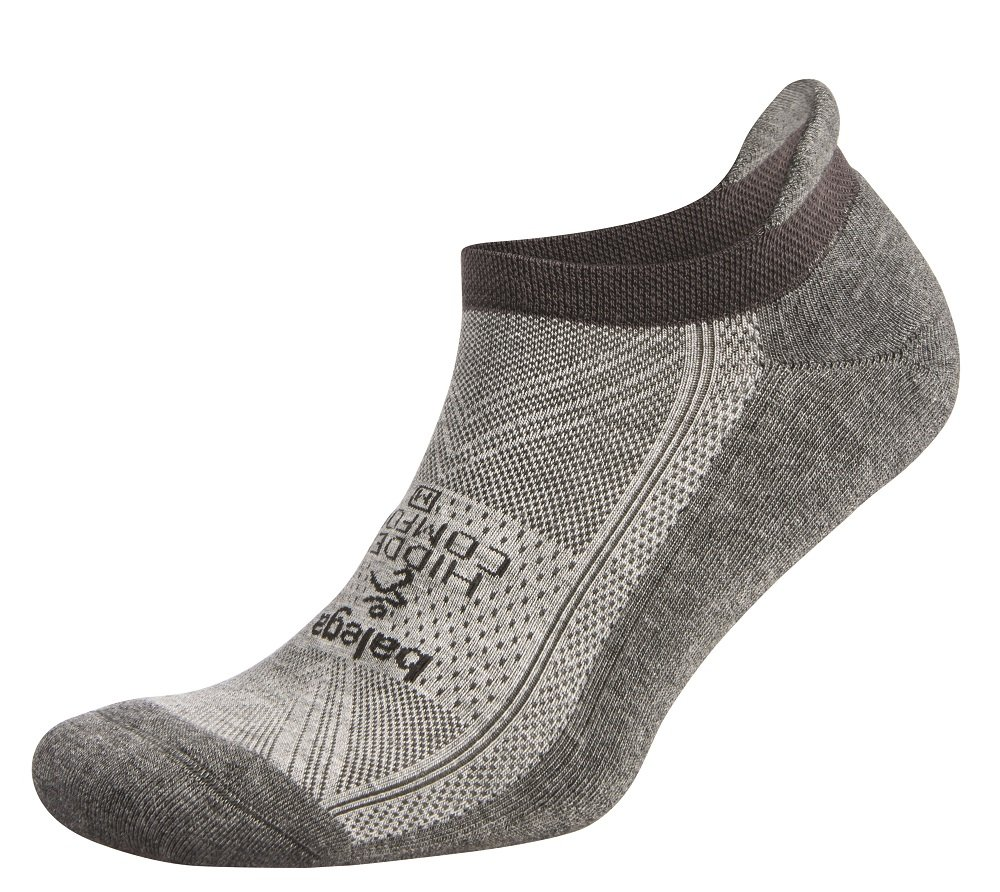 Balega Hidden Comfort No-Show Running Socks for Men and Women (1 Pair), Mid Grey/Carbon, Large