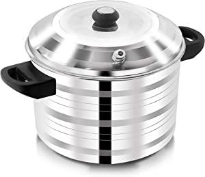 DEZEEN Stainless Steel 5-Plates Idly Cooker, Gas Stove Compatible Idli Maker (5-Plates | 20 IDLI)