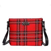 Red Royal Stewart Tartan Crossbody Bag by Signare/Ladies Shoulder Scottish Plaid Fabric / XB02-RSTT