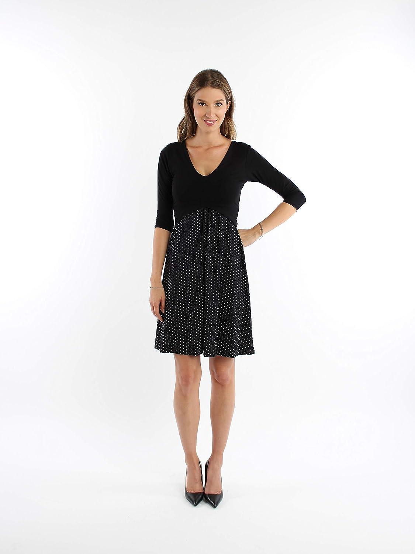 Kleid VIVIENNE Jerseykleid schwarz Punkte