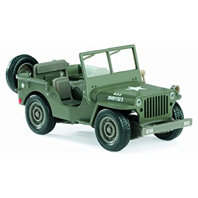 "New Ray 61057 ""Jeep Willys Model Car: Toys & Games"