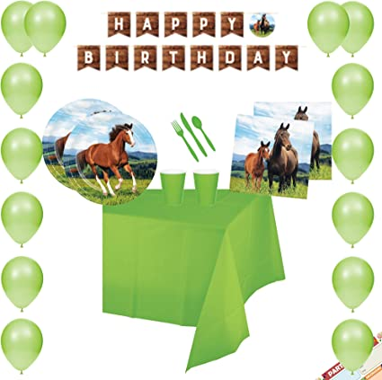Amazon.com: Horse and Pony - Vajilla para fiestas de ...