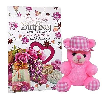 Teddy With Birthday Greeting Card