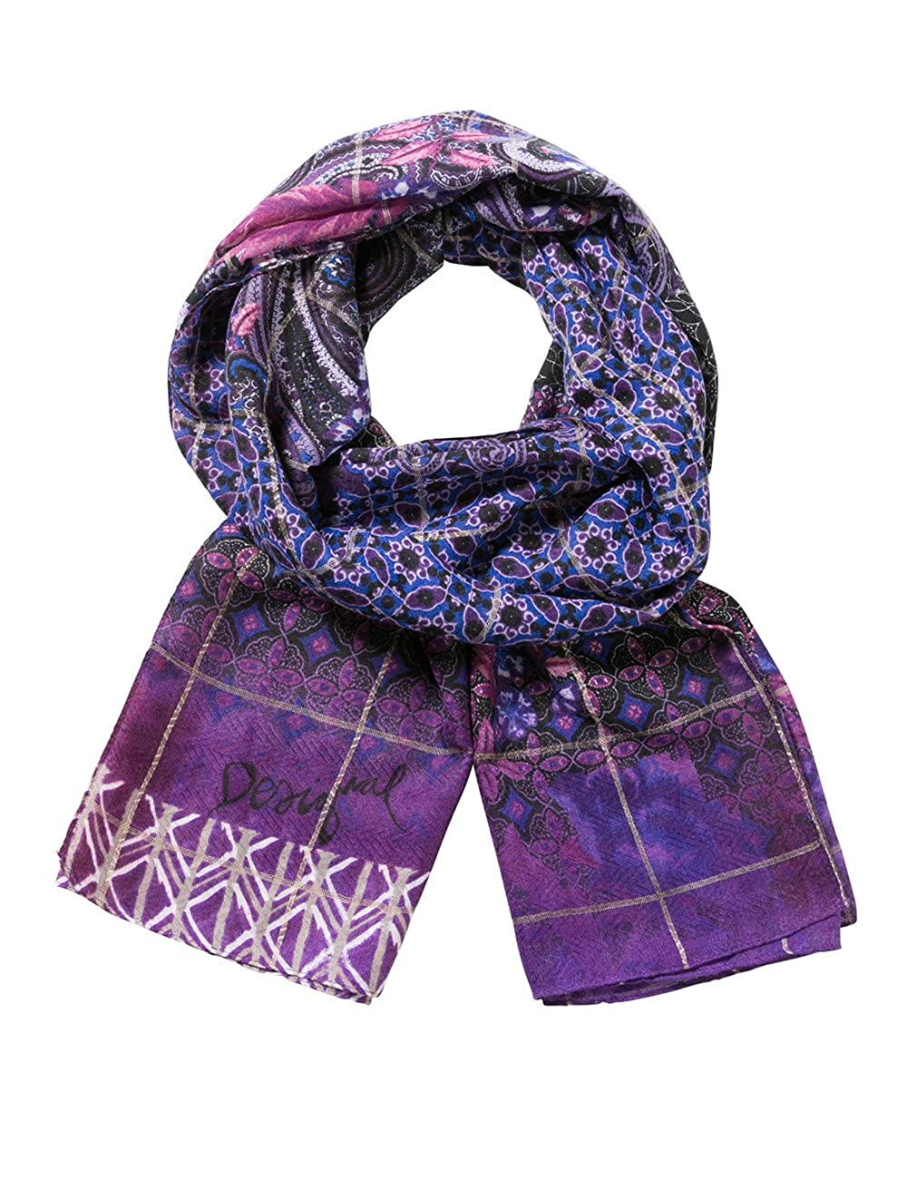 Desigual Foulard_Rectangle Boho, Bufanda para Mujer