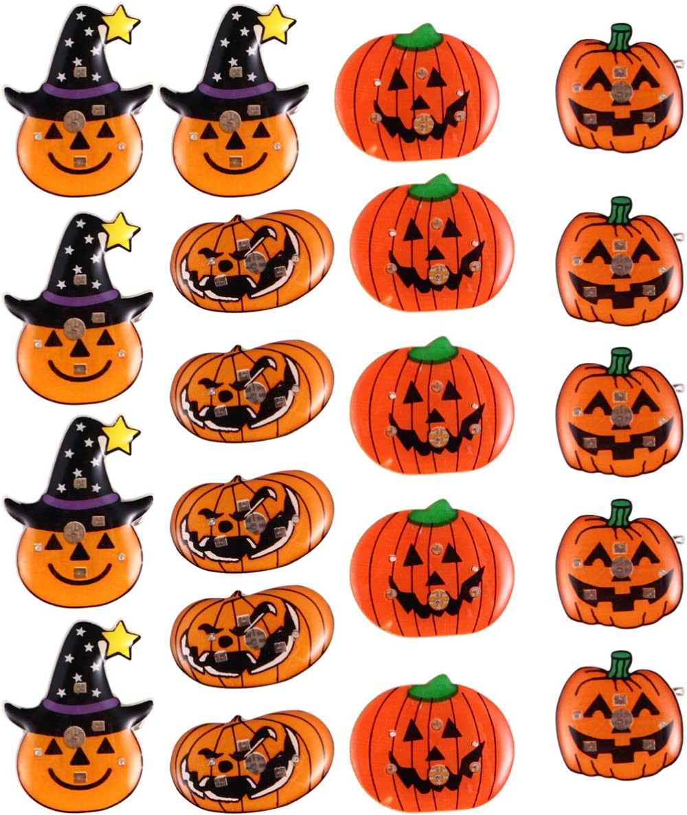 Jack O Lantern LED Light Up Pins