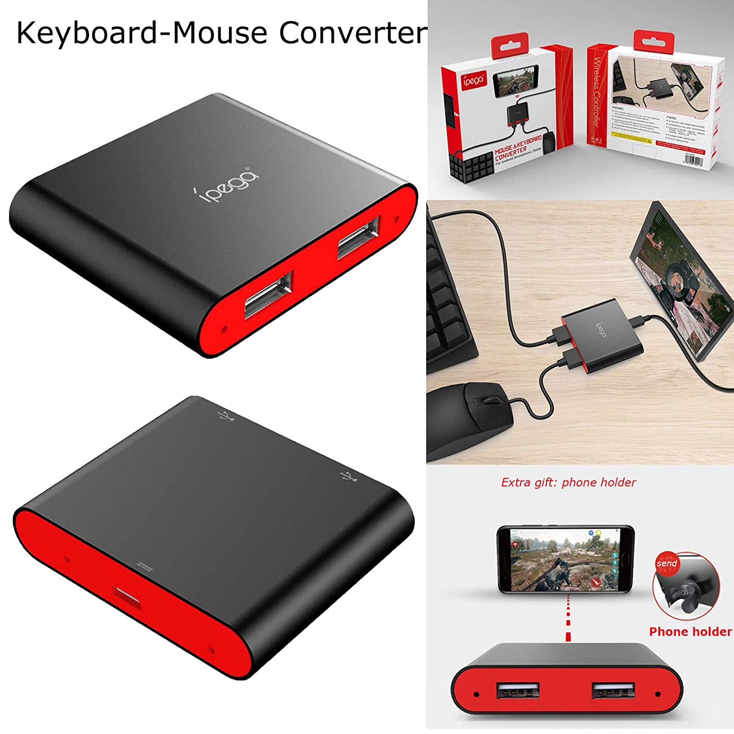 916b3c3b221 Amazon.in: Buy Microware IPEGA PG-9116 Bluetooth Keyboard & Mouse Converter  for Android Smart Phones/Tablet Online at Low Prices in India | Microware  ...