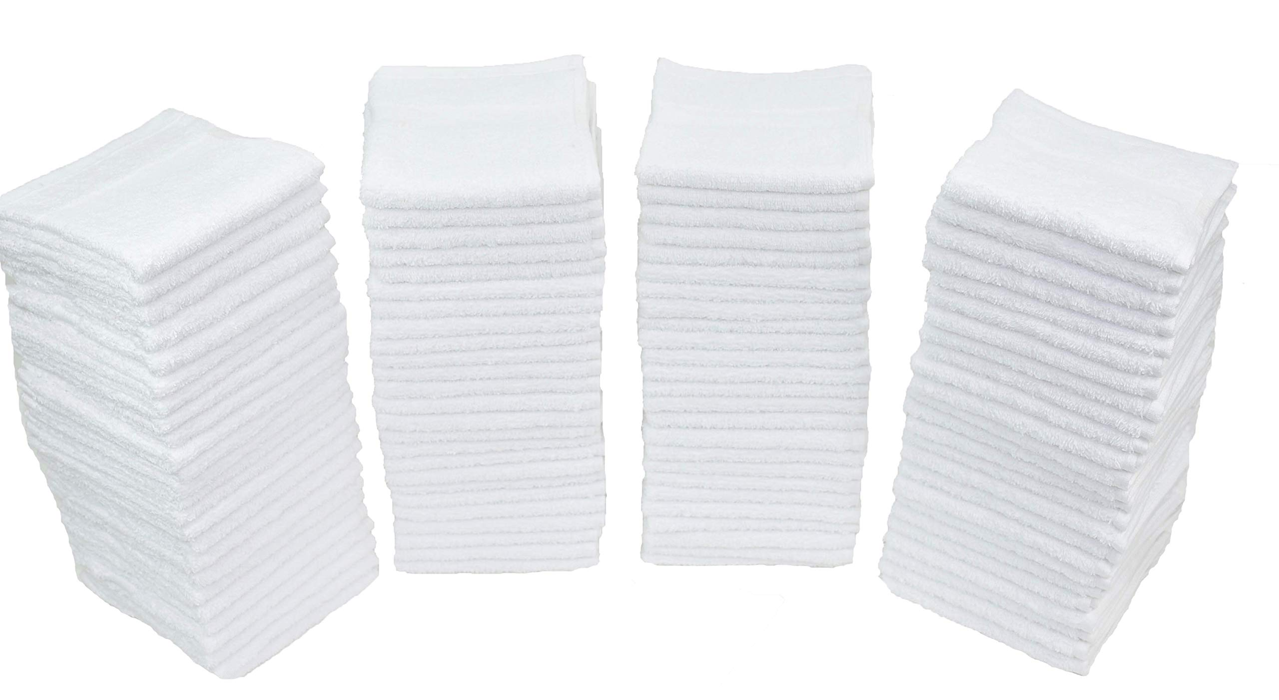 "Simpli-Magic 78992-60PK White (Size:12""x12"") Terry Towels Cleaning Cloths. Ideal for Home, Auto, Salon, Gym, Makeup Removing & Pets, 60 Pack"
