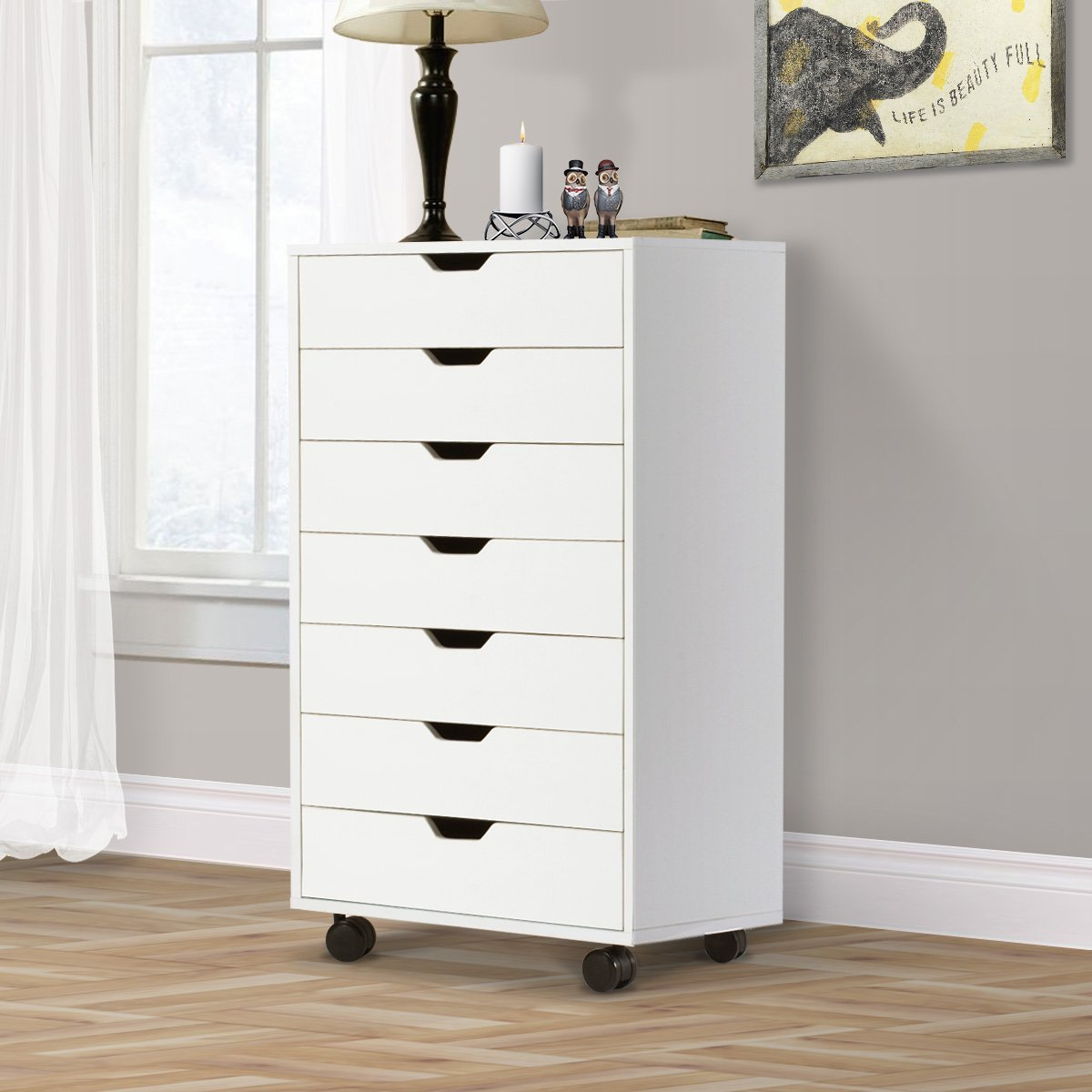 Dresser With Cabinet Amazoncom 7 Drawers Chest Storage Dresser Cabinet On Removable