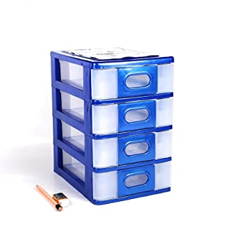 HANBAO 4 Compartment Small Office Drawer - Nokia M.Iceblue Desk Accessories & Storage Products at amazon