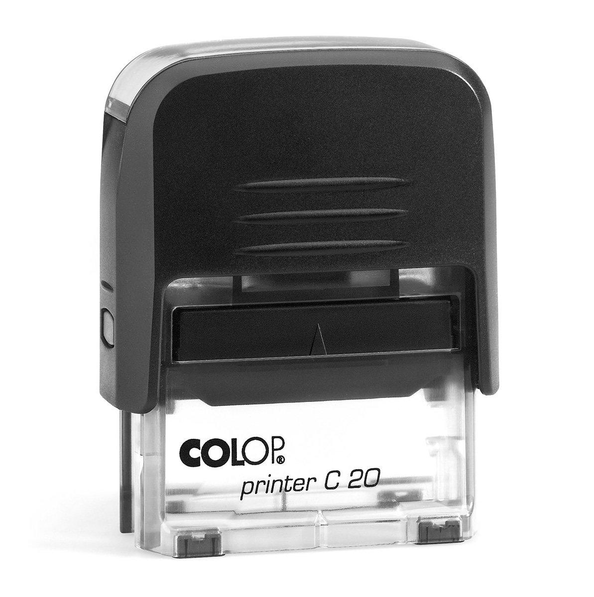 Timbro PER QUIETANZA Autoinchiostrante Pronto alluso con Testo personalizzato Modello Colop Printer C 20 Commerciale Ufficio Scuola Lavoro Inchiostro disponibile in 3 colori TAMPONE NERO