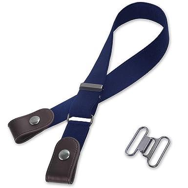 26afbc52caf Kajeer Sans boucle Élastique Invisible Ceinture - Élastique Taille Ceinture  Convient jeans pour quotidiens unisexe Pantalon
