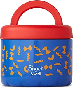 S'nack by S'well Stainless Steel Food Container - 24 Oz - Pasta - Double-Layered Insulated Bowls Keep Food Cold and Hot - BPA-Free Snack Box