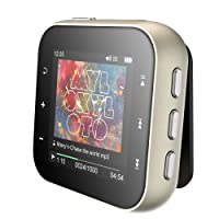 HiFi Lossless MP3 Player, AGPTEK A21 Portable Digital Audio Player with Metal Housing and Back Clip, Support Up to 128GB, 1.5-inch TFT Display, Silver