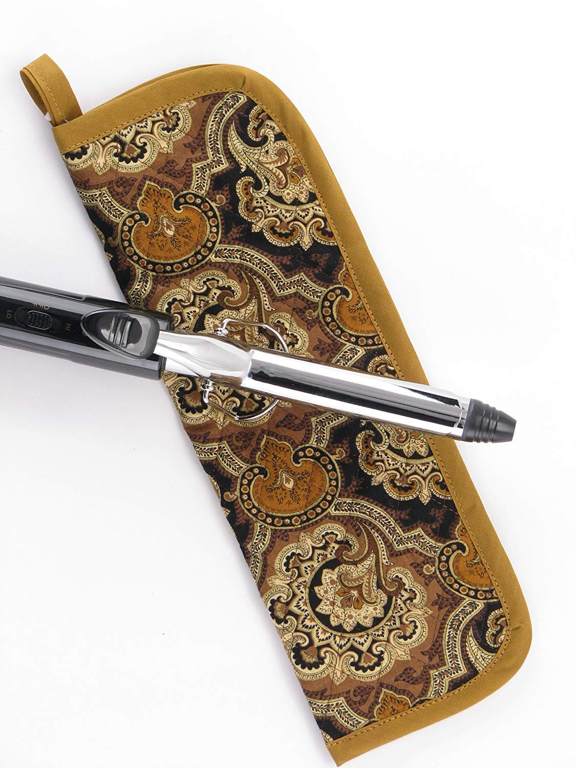 Heat-resistant Curling Iron Cover - Vintage Gold