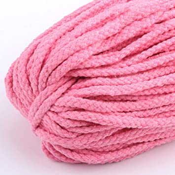 5mm Macrame Rustic 90m Rope Colorful Cotton Twisted Cord String DIY Hand Craft