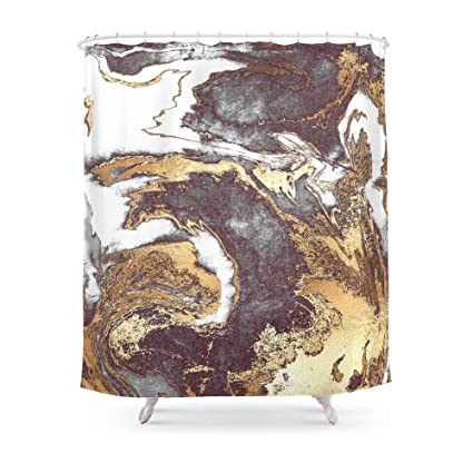 Image Unavailable Not Available For Color MAOXUXIN Black White Gold Shower Curtain