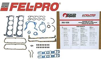 Fel Pro 260-1126 Small Block Ford 351W Overhaul Rebuild Gasket Set Kit SBF 75-83