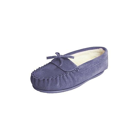 Eastern Counties Leather Mocasines con forro de mezcla de lanas modelo Edie para mujer: Amazon.es: Zapatos y complementos