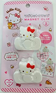 Hello Kitty Refrigerator Magnet Clip 2 Pieces