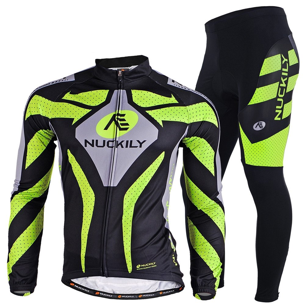 NUCKILY Men's Bicycle Suit Winter Thermal Cycling Jacket Tights Set FO SHAN NUCKILY SPORT PRODUCTS CO. LTD