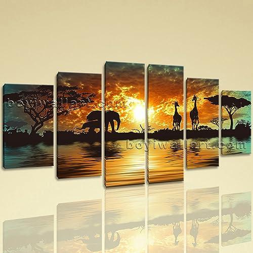 Amazon.com: Extra Large Landscape Painting Wall Decor Realism Art ...