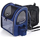 Pecute Pet Carrier Backpack, Dog Carrier Backpack, Expandable with Breathable Mesh for Small Dogs Cats, Pet Backpack Bag…