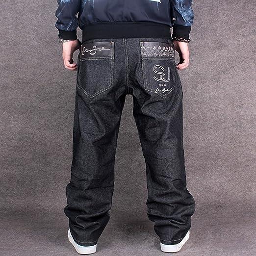 Dexinx Uomo Hip Hop Danza Pantaloni Squisiti Classic Vintage Jeans Urbano Baggy  Denim  Amazon.it  Abbigliamento 154c6c2faf18