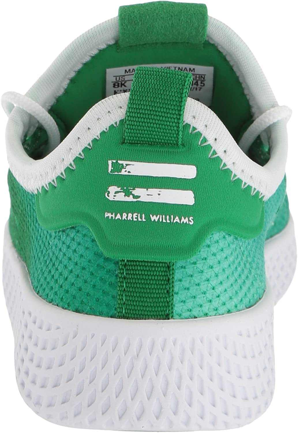adidas Originals Kids' Pw Tennis Hu Running Shoe Green/White/White