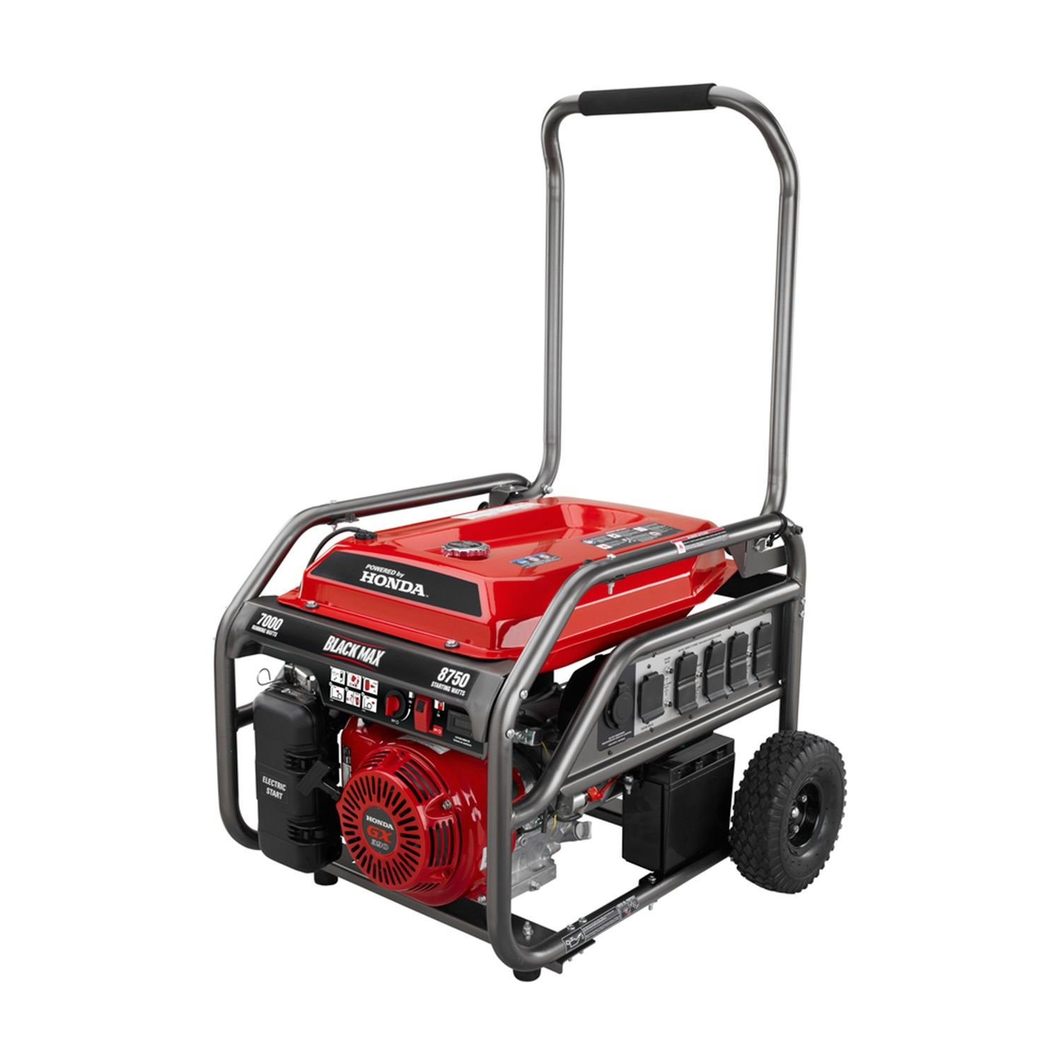 Marvelous Amazon.com: Blackmax Honda Portable Gas Powered Electric Generator Outdoor  Camping With Electric Start 7,000w / 8,750w Watts: Garden U0026 Outdoor